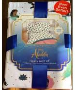 Disney Aladdin Princess Jasmine 4 Piece QUEEN Sheet Set Bedding Sheets NEW - $39.99