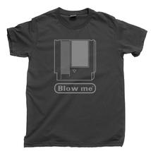 Blow Me T Shirt, 80s Cartridge Video Game System Console Men's Cotton Tee Shirt - $13.99+