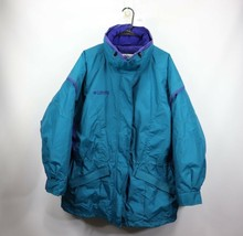 Vintage 90s New Columbia Womens XL Gizzmo 2 In 1 Winter Parka Jacket Tea... - $105.99