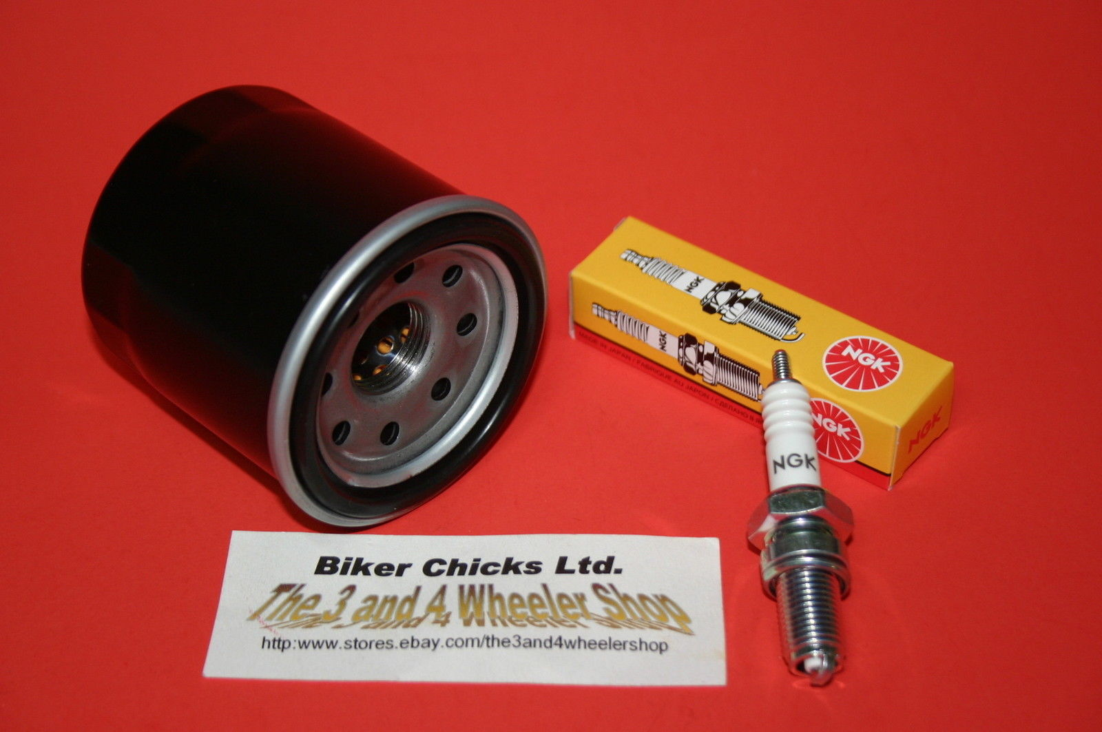 Oil Filter Brute Force 650 750 4x4 KVF 650i Kawasaki Tune up kit Spark Plugs