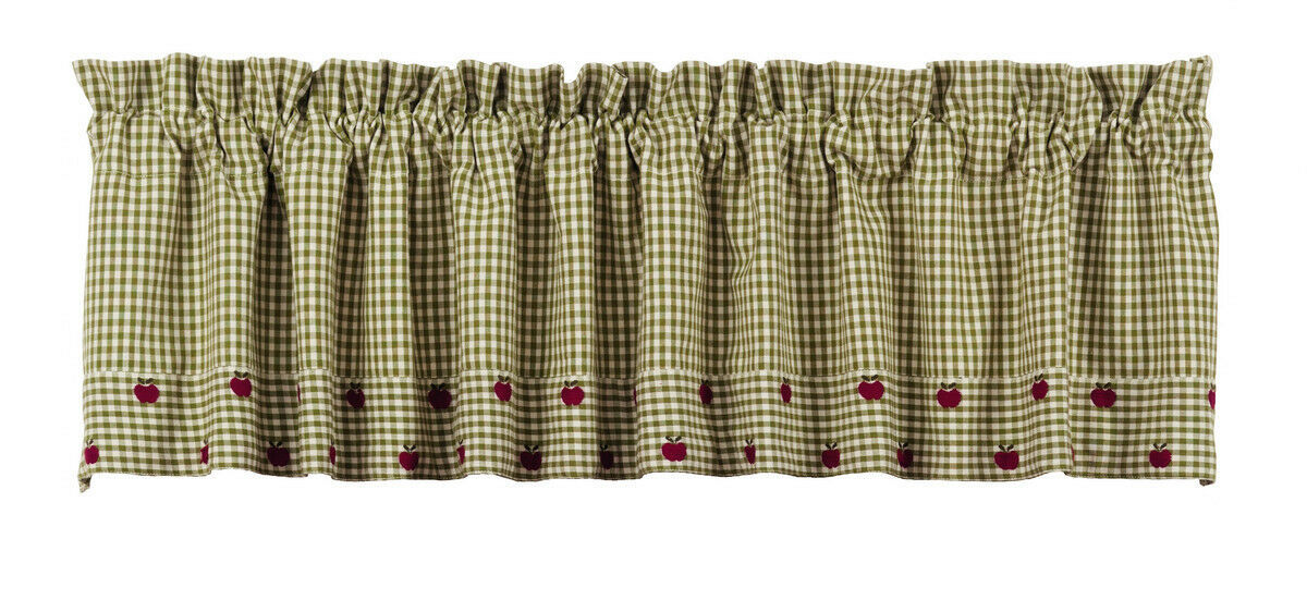 Primary image for Olivia's Heartland plaid country kitchen Apple Valley window VALANCE curtain