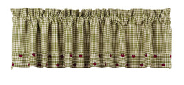 Olivia's Heartland plaid country kitchen Apple Valley window VALANCE cur... - $30.95