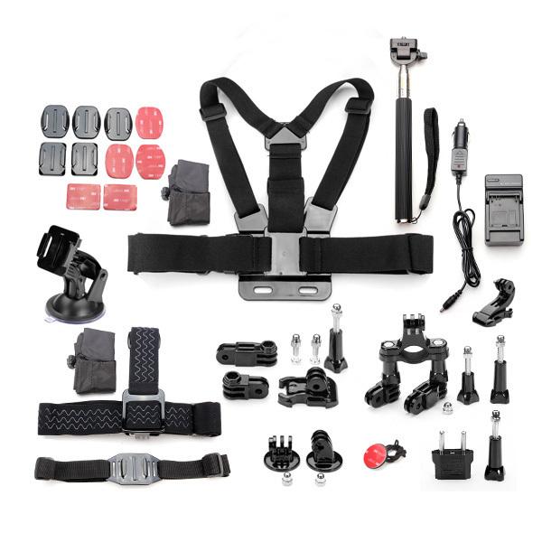11 In 1 Pro Sport Camera Accessories Kits For Gopro Hero 1 2 3 4 3 Plus SJcam SJ for sale  USA