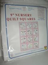 "Jack Dempsey Needle Art: 9"" Nursery Quilt Squares: Girls -Item 300 Patte... - $14.95"