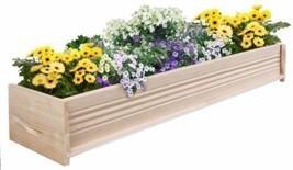 48 Inch L Cedar Garden Planter Box Outdoor Patio Wooden Container New  - $84.25 CAD