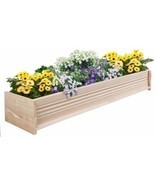 48 Inch L Cedar Garden Planter Box Outdoor Patio Wooden Container New  - £46.25 GBP