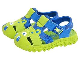 Cute Cartoon Baby Boy's Outdoor Casual Sandal Shoes GREEN, Feet Length 14CM
