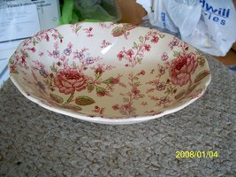 Johnson Brothers Rose chintz oval vegetable bowl 1 available - $20.64
