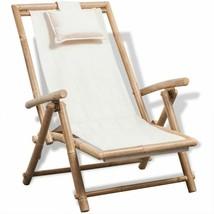vidaXL Deck Chair Bamboo Folding Patio Garden Outdoor Sunlounger Recliner - $81.99