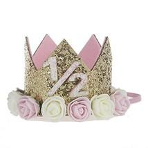 Baby Princess Tiara Crown, Baby Girls/ Kids Half a year old Birthday Hat... - $13.21