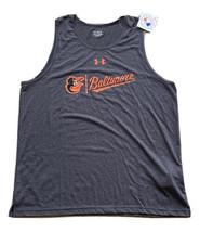 Under Armour Baltimore Orioles Men's Tank Top Size 2XL Gray New! Heat Ge... - $21.78