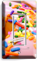 Pink Donuts Rainbow Sprinkles 1 Gfci Light Switch Wall Plates Room Kitchen Decor - $9.89