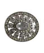 Vintage Rhinestone Brooch Czechoslavakia Czech Costume Jewelry - $128.29