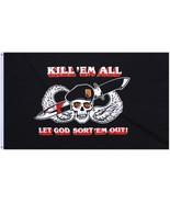 Kill 'Em All Let God Sort 'Em Out Arnaud Amalric Skull 3' x 5' Flag - $9.99
