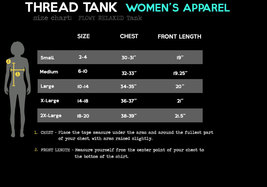 Thread Tank Local Iowa State Women's Sleeveless Flowy Racerback Tank Top Charcoa image 4