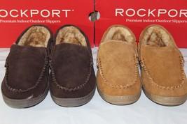 ROCKPORT SUEDE MOCCASIN INDOOR/OUTDOOR MEN'S SLIPPERS,71RQ670025 - $78.15 CAD