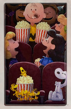 Peanuts Snoopy friends movie theater Light Switch Power Outlet wall Cover Plate image 4