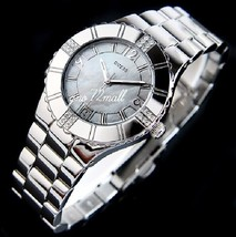 Guess Women's G95469L Silver Stainless-Steel Analog Quartz Watch  Mother-Of-Pear - £64.55 GBP