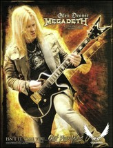 Megadeth Glen Drover Signature Dean USA Cadillac guitar ad 8 x 11 advertisement - $4.50