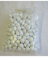 White Coral / Chalk White Color Vintage Glass stones Round Size 48 Japan... - $15.00