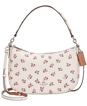 NWT COACH CHELSEA LEATHER CROSSBODY BAG IN FLORAL PRINT CHALK - $178.51