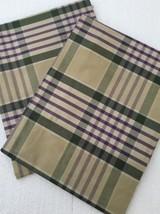 Ralph Lauren Standard Pillow Shams Set Of 2 Olive Plaid - $21.04