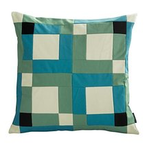 Black Temptation [Spring Hope] Handmade Canvas Decorative Pillow Unique Grid Cus - $38.50