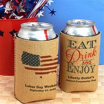 Set of 6 Patriotic Can Cooler Country Wedding Reception and Party Supplies - ₨2,584.34 INR
