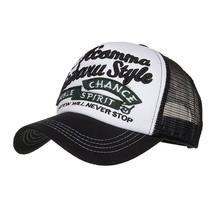 Fashion Women Men Adjustable Applique Embroidery Baseball Cap Hat Mesh C... - £7.32 GBP