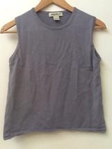 Eddie Bauer Women's sz S Small Gray 100% Cotton Sleeveless Tank Top - $14.95