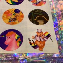 TWO Partial Lisa Frank Sticker Sheets S101 1st Sheet Only One Missing Sticker image 5