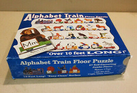 MELISSA & DOUG ALPHABET TRAIN FLOOR PUZZLE OVER 10 FT. LONG #424 TAIWAN - $9.85