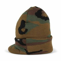 Vans Off the Wall Visor Cuff Beanie Hat - Camo Camouflage winter hat snowboard - $17.75