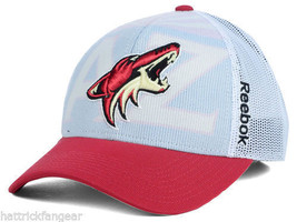 ARIZONA COYOTES REEBOK NX28Z NHL TEAM SECOND DRAFT MESHBACK HOCKEY CAP HAT - €18,50 EUR