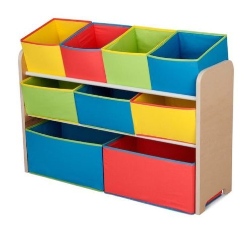 Kids Toy Organizer Storage Colorful Deluxe Colorful w/ Bins Cubicles Set NEW