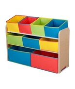 Kids Toy Organizer Storage Colorful Deluxe Colorful w/ Bins Cubicles Set... - $54.52
