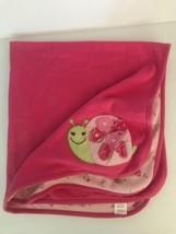 Gymboree Baby Blanket Pink Snails Flowers Cotton In Full Bloom Reversible 2010 - $31.92