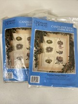 2 New Candamar Designs Victorian Nosegay Picture Candlewicking Embroider... - $17.81