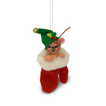 Annalee Dolls 3in 2018 Christmas Jinglebell Mouse in Mitten Ornament New... - $13.07