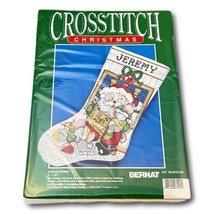 StBernat Stocking Cross-Stich Stocking Christmas Santas Story Cross Stit... - $32.62