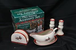 Royal Seasons Accessory Set Vests Xmas Gravy Boat Napkin Holder Candle S... - $42.09