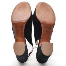 CHOSE 6 Slingback size Suede L'AUTRE Ladies Shoes Black Platform HEEL Italy 36 FqTT7d