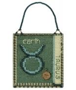 Taurus Zodiac 2018 Charmed Ornament series cross stitch kit Mill Hil - $7.20