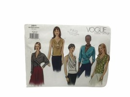 Vogue 2611 Misses Semi Fitted Tops Sewing Pattern Size 14 16 18 - $12.86