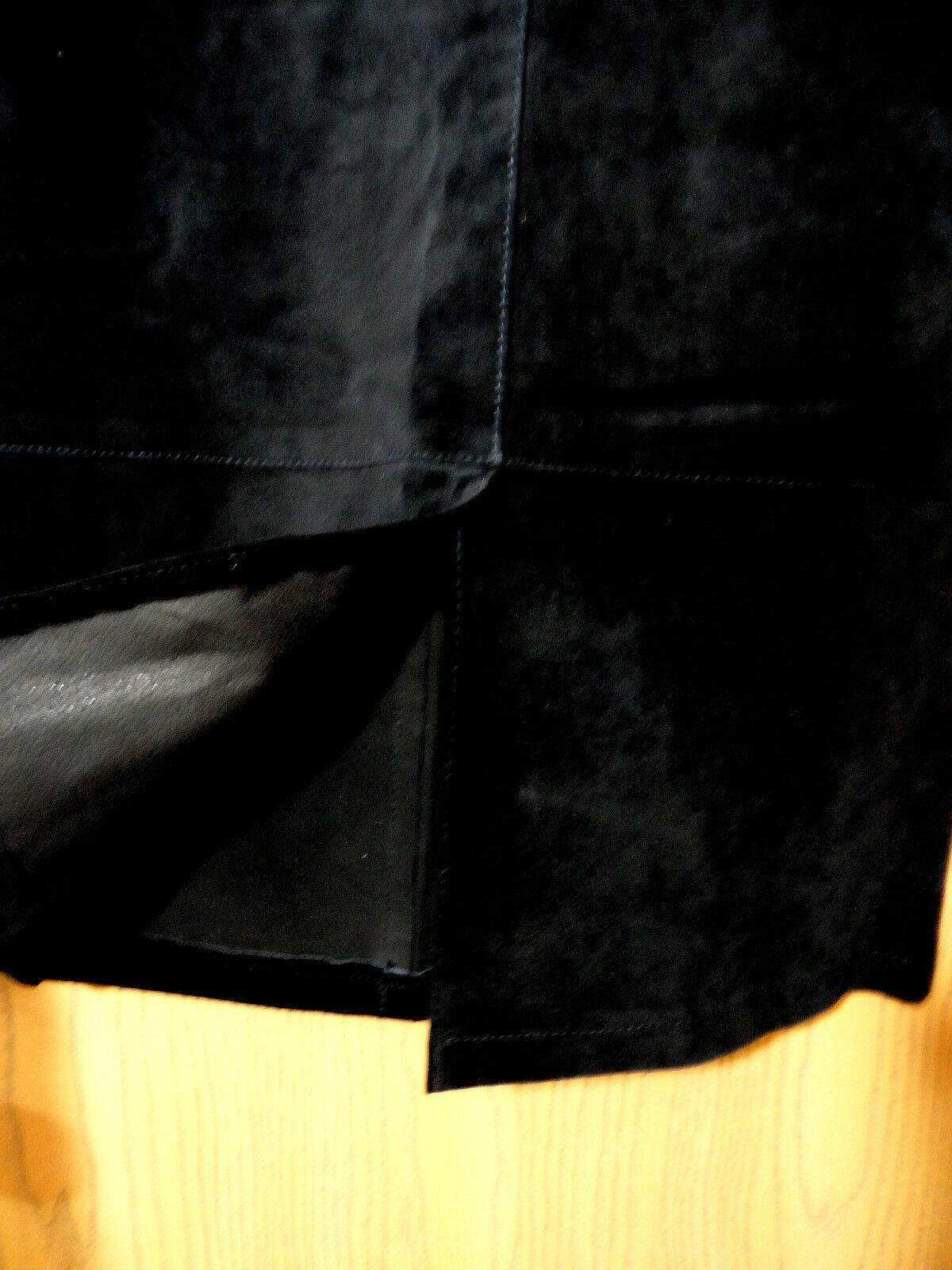 SKOTTS SUEDE Washable Leather Skirt sz 4 Black Midi Straight pencil fit Canadian image 3