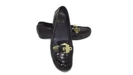 STUART WEITZMAN Womens BROWN Snake Print Flats Gold Buckle Loafers Size ... - $36.10