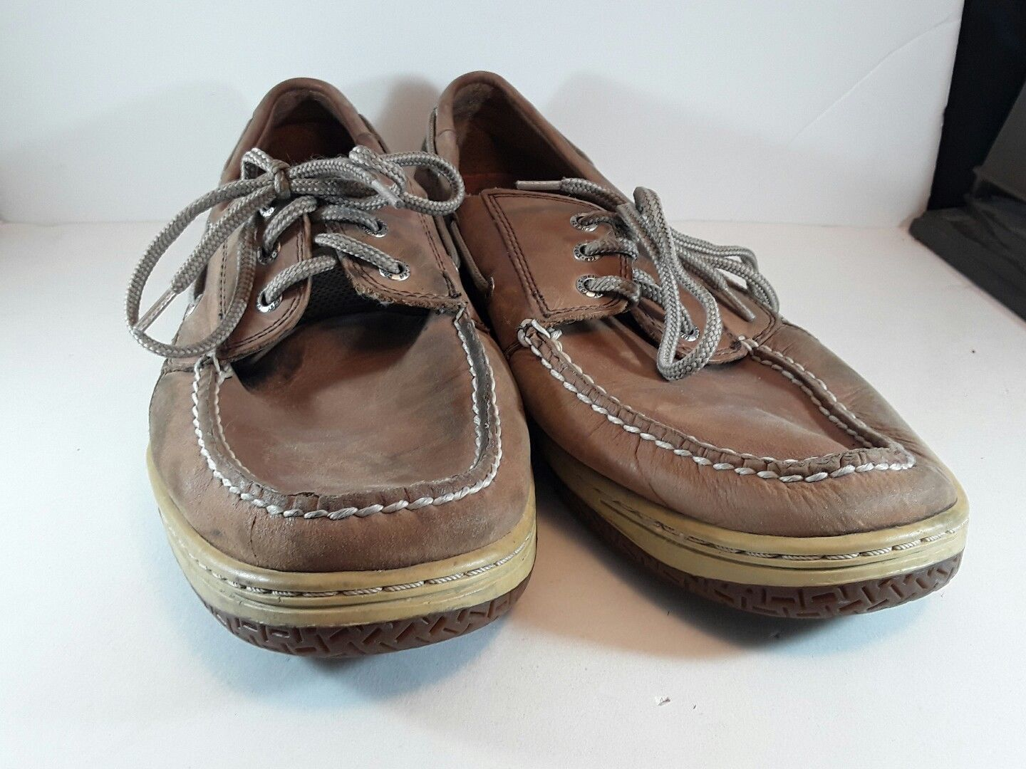 931173345871 S l1600. S l1600. Previous. SPERRY TOP SIDER BILLFIN DARK TAN 3HOLE LACE UP DECK  BOAT SHOE CASUAL SIZE 13