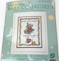 Needle Treasures Cross Stitch Kit Baby Collection God Covers You Birth Sampler - $24.70