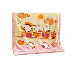 Baby Blanket Thick Winter Children Cute Cartoon Nap Blanket (100 by 130 cm)PINK