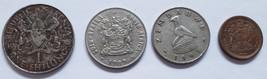 4 Coins South Africa: 1989. 1994, Zimbabwe 1991, Kenya 1975 - $3.95